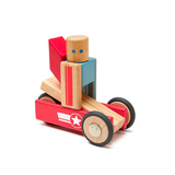Daredevil <br>Magnetic Wooden Blocks <br>Stunt Team, 12 pieces