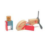 Skyhook <br>Magnetic Wooden Blocks <br>Stunt Team, 8 pieces