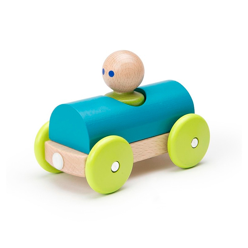 Magnetic Racer <br>Tegu Baby and Toddler <br>3 pieces, Rainbow