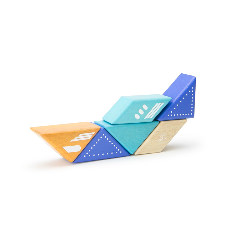 Travel Pals - Jet Plane <br>Magnetic Wooden Blocks <br>6 pieces