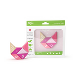 Travel Pals - Kitty <br>Magnetic Wooden Blocks <br>6 pieces