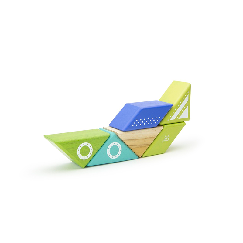 Travel Pals - Spaceship <br>Magnetic Wooden Blocks <br>6 pieces