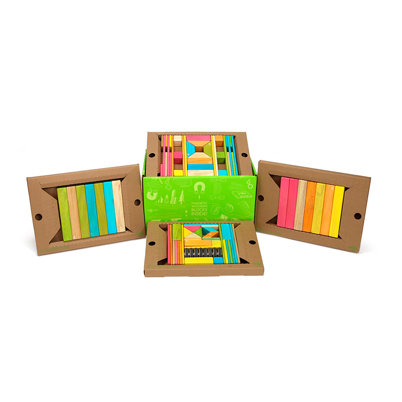 90-Piece Classroom Kit <br>Magnetic Wooden Blocks <br>Bulk Pack