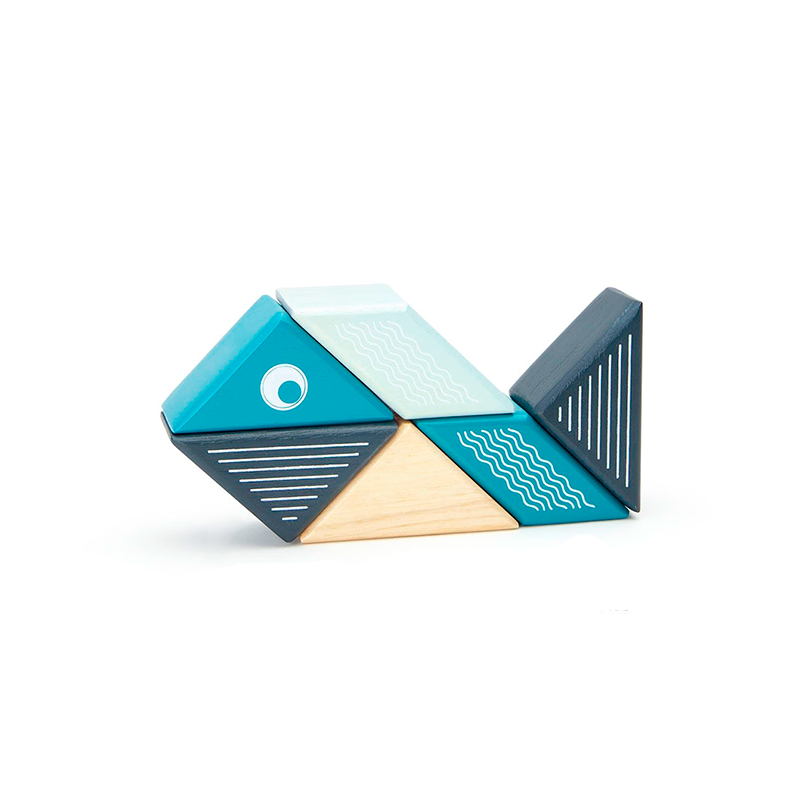 Travel Pals - Whale <br>Magnetic Wooden Blocks <br>6 pieces