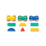 Magnetic Shape Train <br>Tegu Baby and Toddler <br>9 pieces