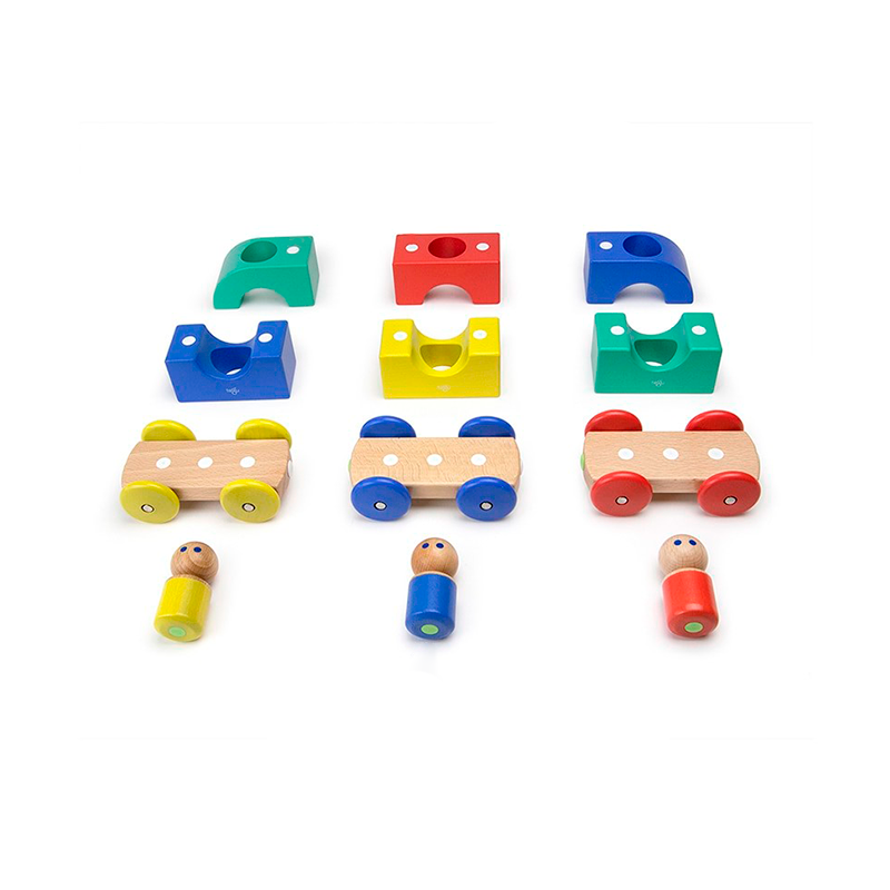 Magnetic Tegu Tram <br>Tegu Baby and Toddler <br>12 pieces