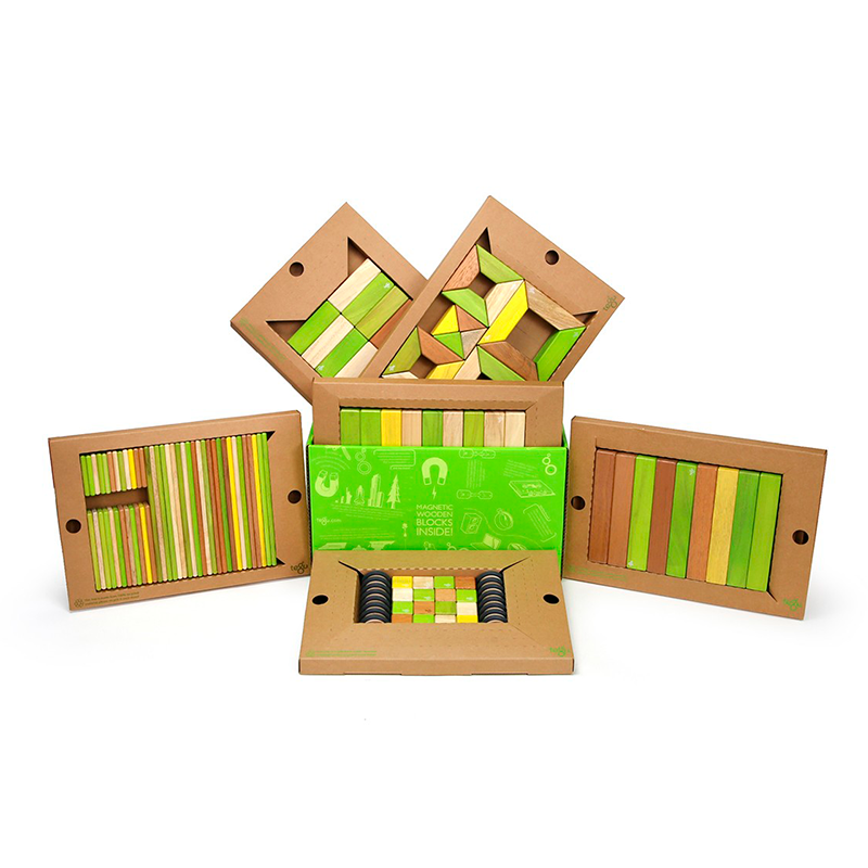 The Classroom Kit <br>Magnetic Wooden Blocks <br>Bulk Pack, 130 pieces