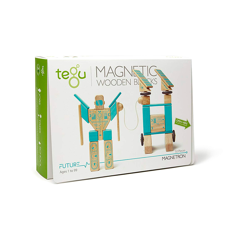 Magnetron <br>Magnetic Wooden Blocks <br>Future Collection, 32 pieces