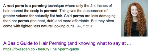 definition of root perm