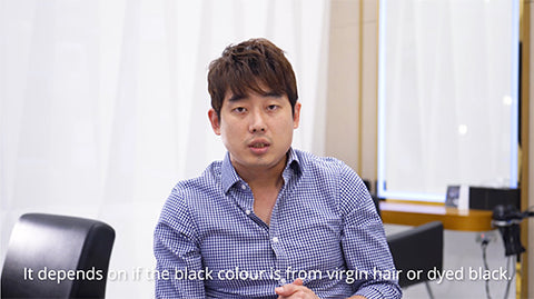 Sean Lee, Korean Director Stylist from DuSolBeauty SG Orchard explains about going blonde to black