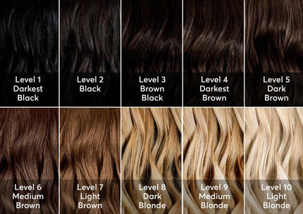 hair colour chart by madison reed