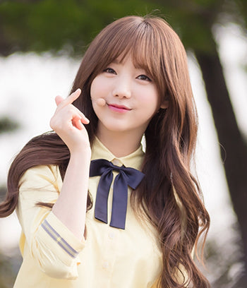 Kei, face of Lovelyz, a Kpop idol girl group with the popular single 'Ah-Choo'. Her natural-looking korean perms gives her that signature youthful appearance.