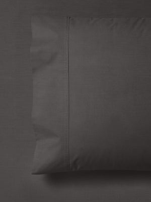 Charcoal-Grey-300TC-Combed-Cotton-Standard-Pillowcase-Pair.
