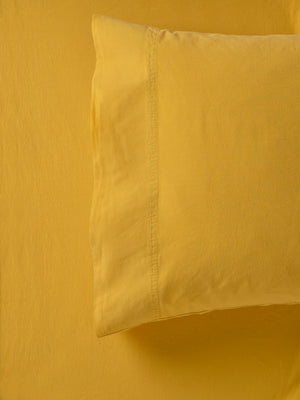 Mustard-Yellow-European-Vintage-Wash-Sheet-Set
