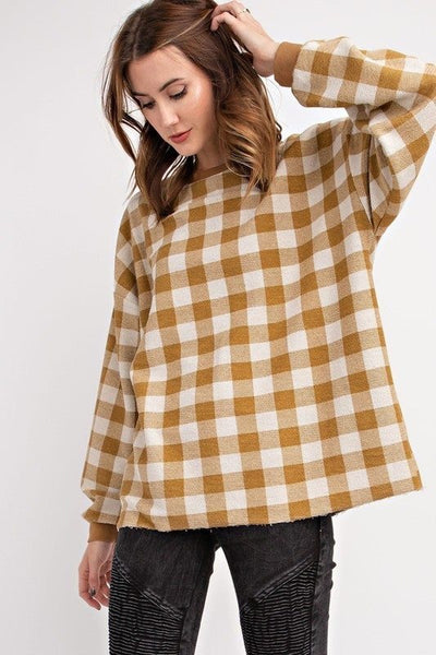 Plaid Pull Over