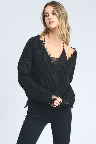 Reversible knit sweater