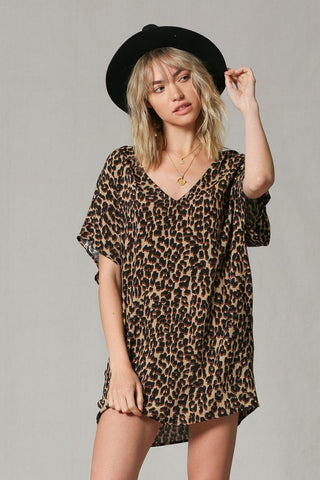 Leopard V-Neck Dress