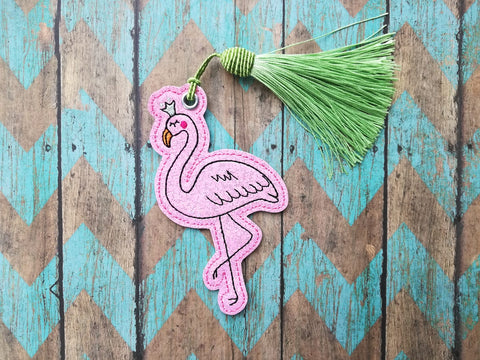 DIGITAL DOWNLOAD 4x4 Magical Flamingo Bookmark