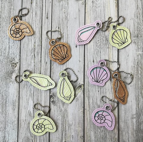 DIGITAL DOWNLOAD 4x4 Seashell Charm Set