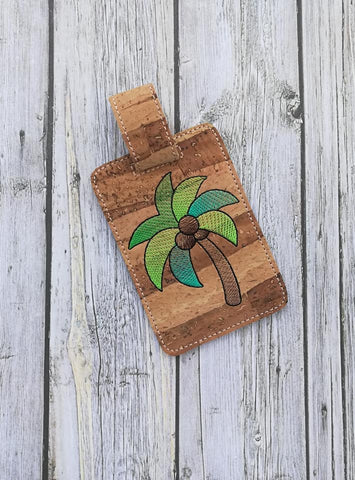 DIGITAL DOWNLOAD 4x4 Palm Tree Luggage Tag