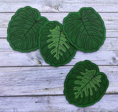DIGITAL DOWNLOAD 4x4 Monstera Leaf Coaster