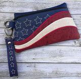 DIGITAL DOWNLOAD ITH Star Spangled Strap and Key Fob Set 5 Sizes Included