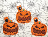 4x4 DIGITAL DOWNLOAD Jack O Lantern Snap Tab