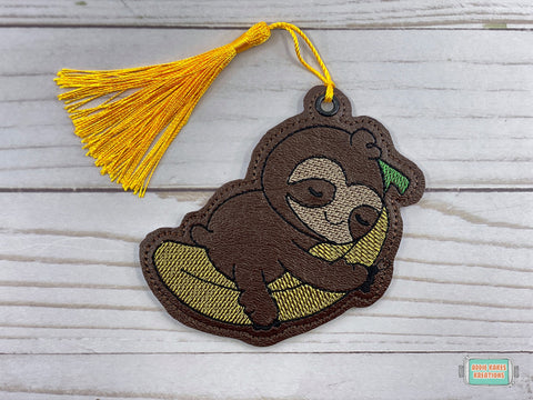 DIGITAL DOWNLOAD 4x4 Banana Sloth Bookmark