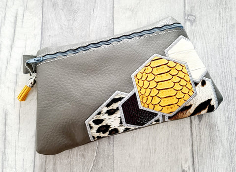 DIGITAL DOWNLOAD Honeycomb Applique Clutch OWTT