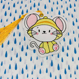 DIGITAL DOWNLOAD Rainy Day Mouse Sketch Bookmark