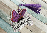DIGITAL DOWNLOAD Antisocial Butterfly Bookmark