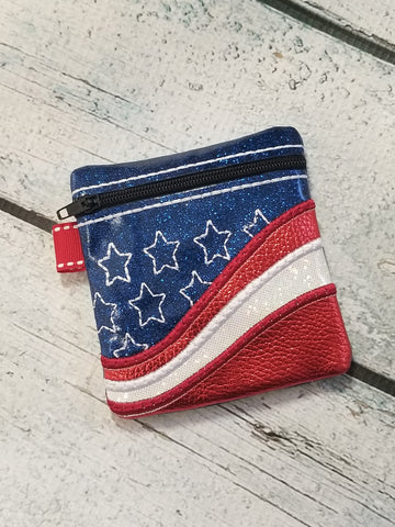 DIGITAL DOWNLOAD ITH Rustic Americana Zip Pouch 4x4 Friendly Applique