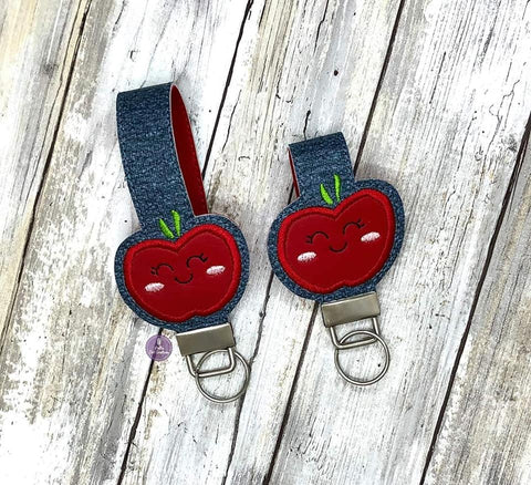 DIGITAL DOWNLOAD Applique Apple Key Fob Set