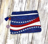 DIGITAL DOWNLOAD Patriotic Clutch Applique Lined and Unlined Options GENERAL ASSEMBLY TUTORIAL