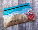 DIGITAL DOWNLOAD Beach Life Clutch Applique Lined and Unlined Options