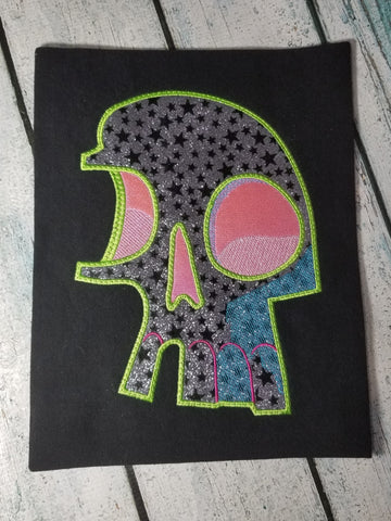 DIGITAL DOWNLOAD Fragmented Skull Applique 5 SIZES INCLUDED