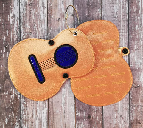 DIGITAL DOWNLOAD ITH 5x7 Guitar Pick Carrier Holder Embroidery Design Holds Up To 32