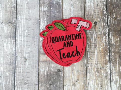 DIGITAL DOWNLOAD Quarantine And Teach Coaster
