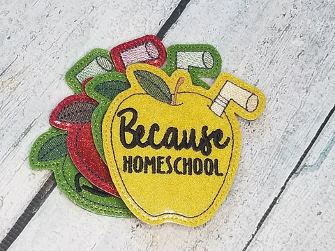 DIGITAL DOWNLOAD Because Homeschool Coaster