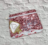 DIGITAL DOWNLOAD Applique Love Potion Clutch Zippered Bag
