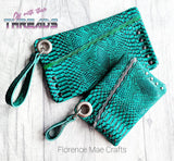 DIGITAL DOWNLOAD Unagi Asymmetrical Clutch Set 5 SIZES INCLUDED