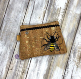 DIGITAL DOWNLOAD Honey Bee Clutch Applique Zipper Bag Lined and Unlined