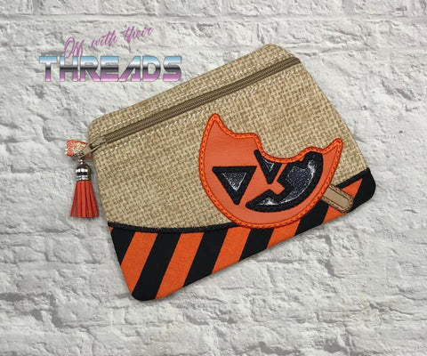 DIGITAL DOWNLOAD Pumpkin Lollipop Clutch Lined and Unlined Applique
