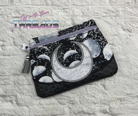 DIGITAL DOWNLOAD Crescent Clutch Lined and Unlined Applique