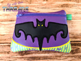 DIGITAL DOWNLOAD Bat Applique Zipper Clutch Lined and Unlined