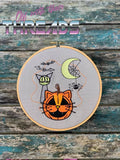 DIGITAL DOWNLOAD ITH Kitty Jack O Lantern Design Set 4 SIZES INCLUDED