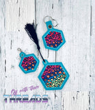 DIGITAL DOWNLOAD Applique Hexagon Set Eyelet Snap Tab Ornament Bookmark Charm