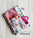DIGITAL DOWNLOAD Planner Band Zipper Bag With Pocket 4 SIZES INCLUDED
