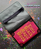 DIGITAL DOWNLOAD 5x7 Applique Little Black Magic Mini Comp Book Cover