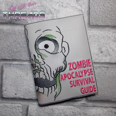 DIGITAL DOWNLOAD A6 Notebook Zombie Apocalypse Survival Guide Cover